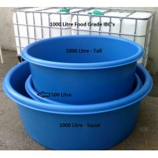 Aquaculture Tub - Aquaponics Fish Tank - 1000L Squat