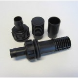 Flood and Drain Fitting - Complete - 19mm barbed - x1